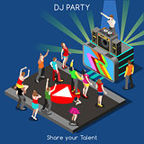 DJ Performance People Isometric