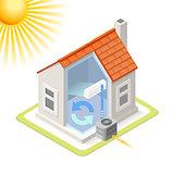 Energy Chain 02 Building Isometric