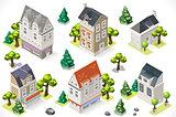 European Set Building Isometric