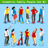 Family Set 01 People Isometric