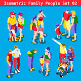 Family Set 02 People Isometric