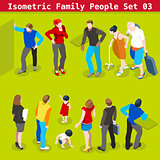 Family Set 03 People Isometric
