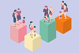 Family Types People Isometric