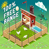 Farm Free Range Building Isometric