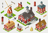 Farm Set 01 Building Isometric