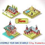 Farm Tiles 01 Set Isometric