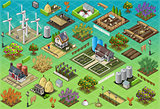 Farm Tiles 02 Building Isometric