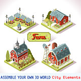 Farm Tiles 03 Set Isometric