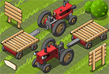 Farm Tractor 01 Vehicle Isometric