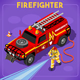 Firefighters 02 People Isometric