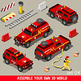 First Aid Vehicle Isometric