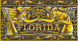 Florida Plaque Label Vintage