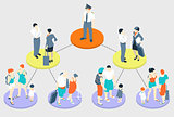 Fly Tasks People Isometric