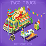 Food Truck 07 Vehicle Isometric