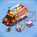 Food Truck 08 Vehicle Isometric