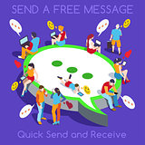 Free Chat Set People Isometric