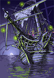 Ghost Ship Landscape Fantasy