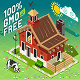 GMO Free Farm Building Isometric