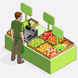 Greengrocer 01 People Isometric
