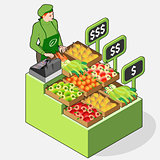 Greengrocer 02 People Isometric