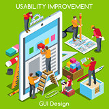 GUI design 03 People Isometric