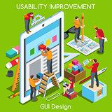 GUI design 03 People Isometric