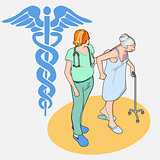 Healthcare 01 People Isometric