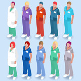 Hospital 14 People Isometric