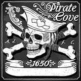 Jolly Roger Pirate Flag Blackboard