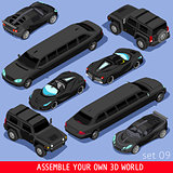 Limousine 02 Vehicle Isometric