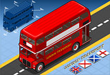London Bus 02 Vehicle Isometric