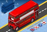 London Bus 02 Vehicle Isometric