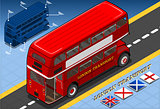 London Bus 03 Vehicle Isometric