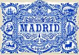 Madrid Azulejos 01 Vintage 2D