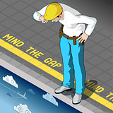 Mind the Gap Concept Isometric