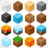 Mine Cubes 03 Elements Isometric