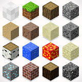 Mine Cubes 04 Elements Isometric