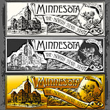 Minnesota Plaque Label Vintage