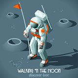 Moon Landing People Isometric