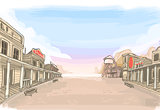 Old Wild West Landscape Fantasy