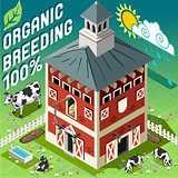 Organic Farm Building Isometric