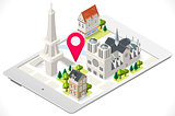 Paris Tablet 01 Landmark Isometric