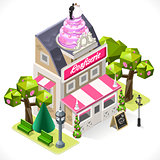 Pastry Shop Building Isometric