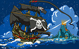 Pirate Ship Landscape Fantasy