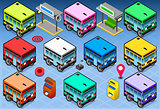 Rainbow Buses Vehicle Isometric