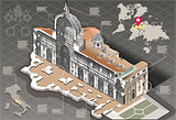 Rome 01 Building Isometric