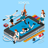 School Devices 01 People Isometric