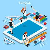 School Devices 03 People Isometric