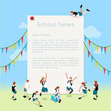 School Letter Template Isometric