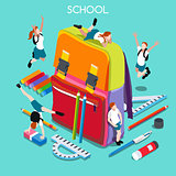 School Set 01 People Isometric